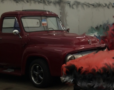 Ford Pickup – Himmel & Teppich